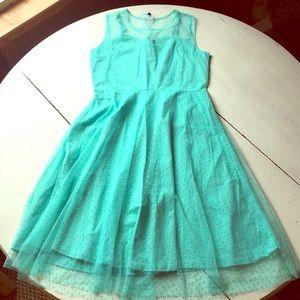 Aqua Vintage Inspired Dress